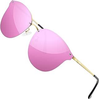 Metal UV Protection Mirrored Lens Polarized Sunglasses for Women