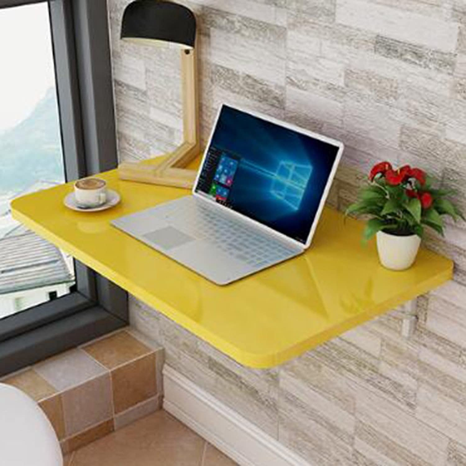 Xiaolin Baked Paint Folding Table Wall-Mounted Table Dining Table Wall Table Wall-Mounted Table Book Table Computer Desk Writing Table Optional Size (color   03, Size   60  40)