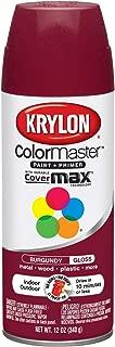 Krylon K05211807 ColorMaster Paint + Primer, Gloss, Burgundy, 12 oz.