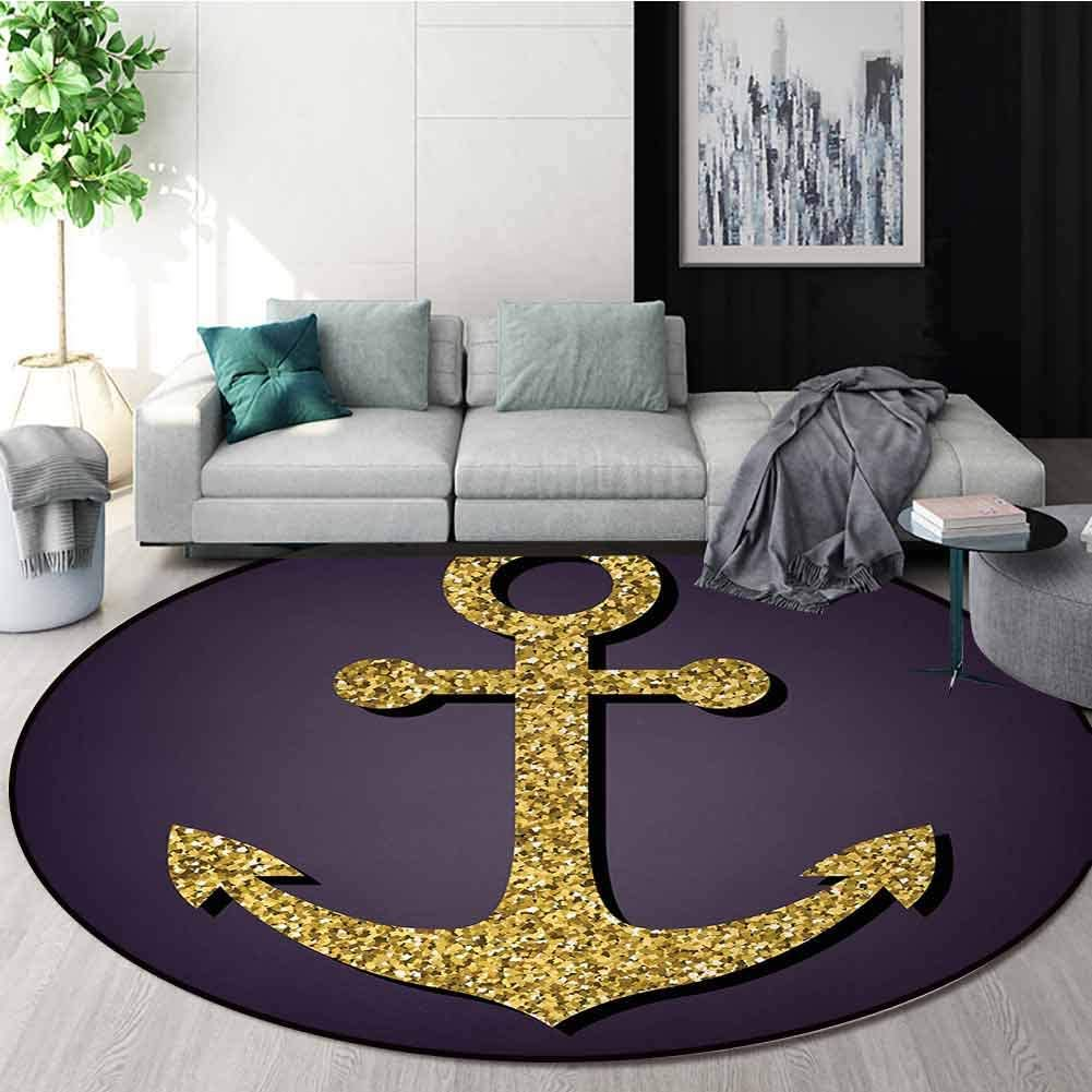 Baltimore Mall Anchor Modern Washable Round Bombing free shipping Bath Tranqu Mat Pattern with