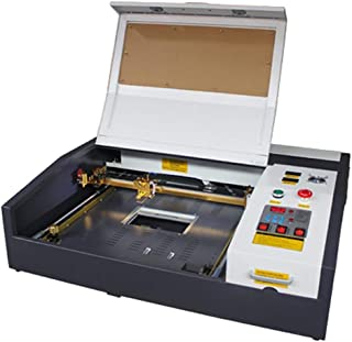 TEN-HIGH 4040 400x400mm 15.7x15.7 inches 50W 120V Crafts Laser Engraving Machine with USB Port, Standard Version.