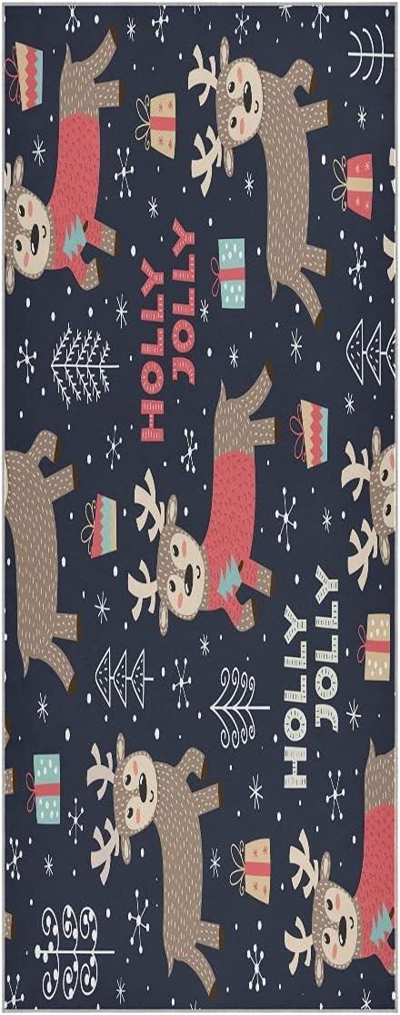 FVFV Selling Tucson Mall Christmas Cute Deer Elk Yoga Super Non Mat Soft Towel Slip