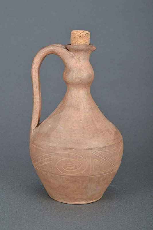 Homemade Clay Jug Beautiful Decorative Handmade Designer Ceramic Clay Beverage Portable Pottery Jug By MadeHeart