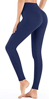 IUGA High Waist Yoga Leggings for Women Workout Leggings with Inner Pocket, Soft Basic Leggings for Everyday