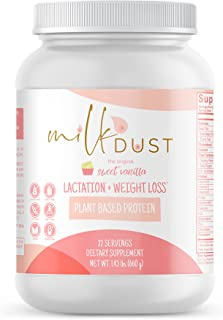 Milk Dust Lactation Protein Powder | Breastfeeding Protein Powder for Milk Supply and Weight Loss While Nursing | 22 Servings