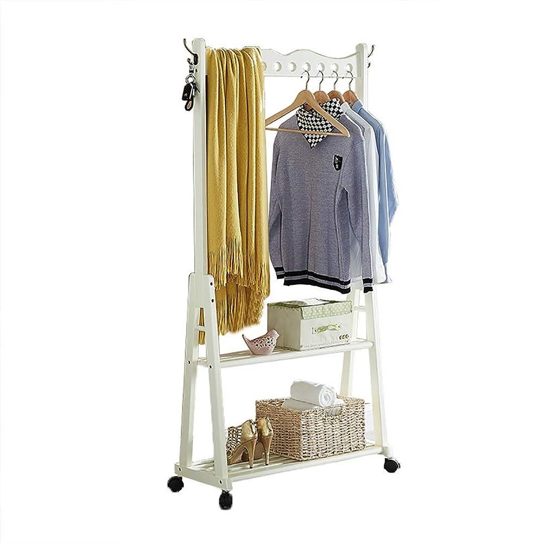 マーキークラフト鈍いZWJ コートラック木製床寝室リビングルーム多機能ラック靴ラックホーム取り外し可能なハンガー (Color : B)
