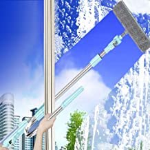 Professional Window Squeegee Cleaner, 2 in 1 Shower Squeegee with Extension Pole, Glass Cleaning Tools for Indoor/Outdoor ...