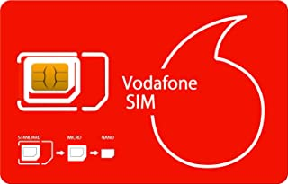 PrePaid Vodafone UK France Italy Germany Spain Swiss 49 Europe Countries Travel SIM (23GB Data 4g LTE / 250 Minutes Call) 30 Days