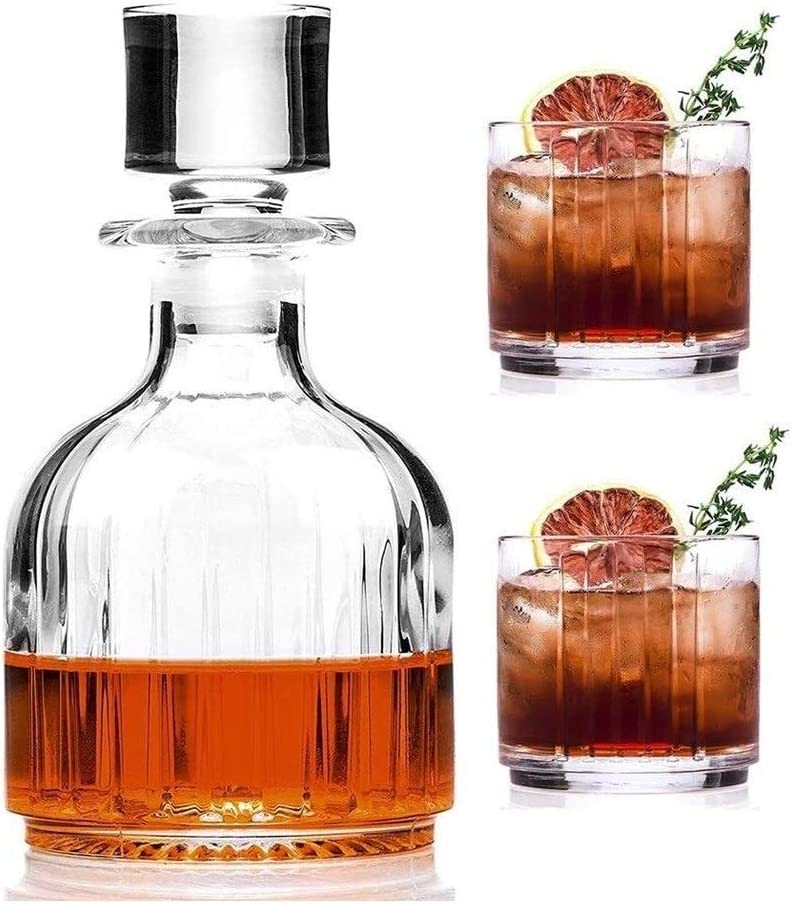 beautiful Whiskey Decanter Whisky Glasses F At the price of surprise Set Department store