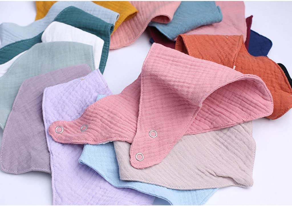 Baby Cotton Bib Newborn Triangle Scarf Feeding Saliva Towel Bandana Burp Cloth WANGYUMI Baby Bibs