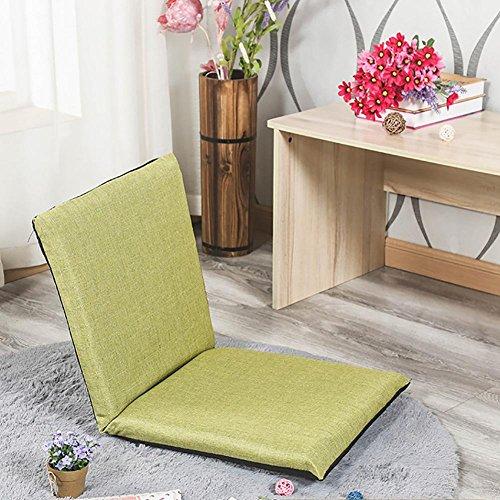 KSUNGB Tissu Coussin Balcon fenêtre en saillie Chaise Lounger Canapé Lounger Individuel Pliable Petit canapé, Green, 80 * 40cm