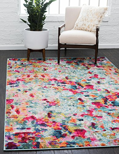 Unique Loom Chromatic Collection Modern Abstract Colorful Kids Multi Area Rug (8' x 10')