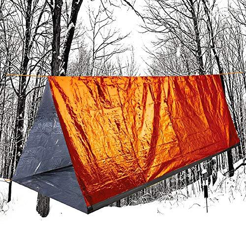 Xinlie Notfallzelt Outdoor Tube Zelt Notfall-Zelt Rettungszelt aus Wärmeisolierender Aluminiumfolie Wasserdicht Leicht Hitzeabweisend Kälteschutz Rettungszelt für Camping im Freien (Zelt 150 x 240)