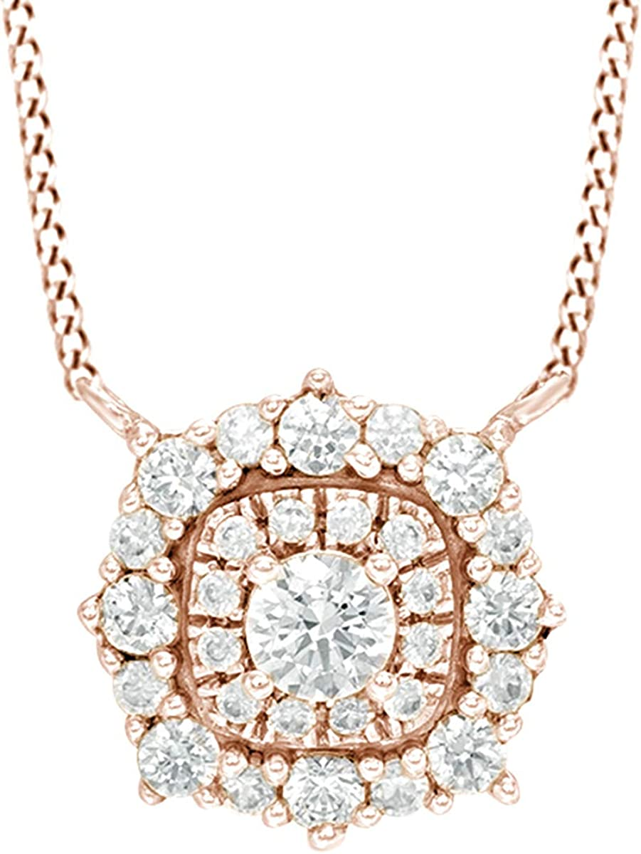 2021 spring and summer new AFFY White Natural Diamond Fashion Colorado Springs Mall in Rose 10K Necklace Pendant