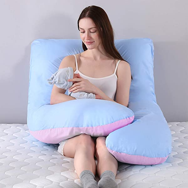 Vanlord Pregnant Women S Pillow 55 Inch Body Pillow U Shaped Pillow With Two Color Comfortable Cotton
