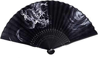 ASAO Hand Made Artisan Men's Silk Sensu Folding Fan 9 In 25 Folds Seiryu