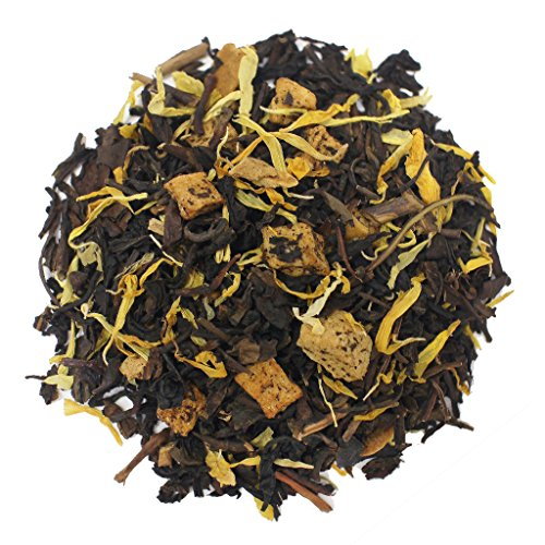 The Tea Farm - Peach and Cream Oolong Fruit Tea - Taiwan Loose Leaf Oolong Tea (2 Ounce Bag)