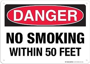 Danger No Smoking Within 50 Feet Sign - 10
