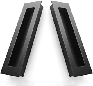 Attirant 2 Packs Finger Pulls,Abuff Sliding Door Flush Pull Recessed Flush Handles  With Hidden Concealed