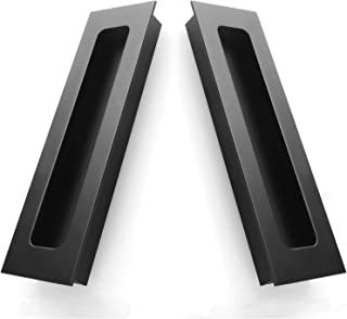 2 Packs Finger Pulls,Abuff Sliding Door Flush Pull Recessed Flush Handles with Hidden Concealed Screws for Cabinets, Closet, Drawers -  5.59