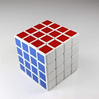 Shengshou Professional 4x4x4 6.3cm 6 Colors Gloosy Sticker Puzzle Speed Magic Cube - White