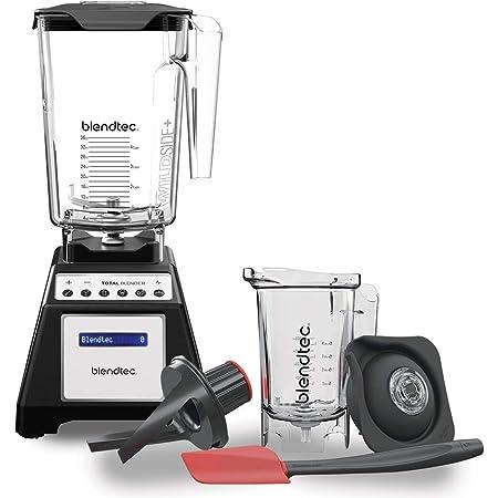 Blendtec Total Classic Original Blender - WildSide + Jar and Twister Jar BUNDLE - Professional-Grade Power - 6 Pre-programmed Cycles - 10-speeds - Black