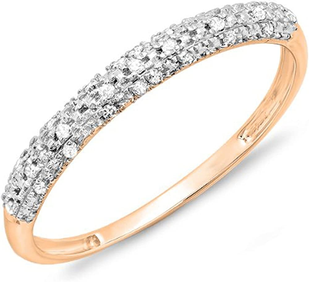 Dazzlingrock Collection Quality inspection 0.10 Carat ctw Large discharge sale Gold Round Diamond 14k