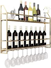 Yxsd Kitchen Storage Organisation European Wine Rack Wall Holder Free Standing Metal | Vintage Wall Shelf Storage Rack Wal...