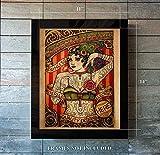 Chapel Tattoo Advertisement - Tattoo Lady 11 x 14 Unframed Print - Tattoo Parlors - Gift for Artists