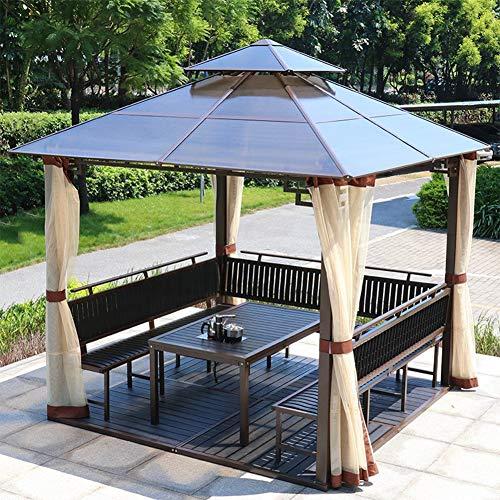 DNNAL Gazebo del jardín, Pabellón Tienda al Aire Libre Villa Toldo Toldo Pérgola con Las Paredes Laterales para Junta Sun Patio Jardín Barbacoa terraza al Aire Libre con terraza (mesas y sillas)