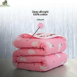 6 capas de manta 100% algodón de muselina orgánica para niños (rosa)