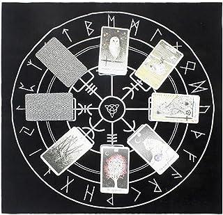 EODNSOFN Nappe en flanelle pour tarots - 49 x 49 cm - Triple lune - Pentagramme - Couleur : C - Taille unique