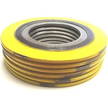 for 3 Pipe Supplied by Sur-Seal Inc QTY: 24 for 3 Pipe Sterling Seal 90003316GR600X24 316L Stainless Steel spiral Wound Gasket with Flexible Graphite Filler Pack of 24 green Band with Grey Stripes Pressure Class 600# of NJ