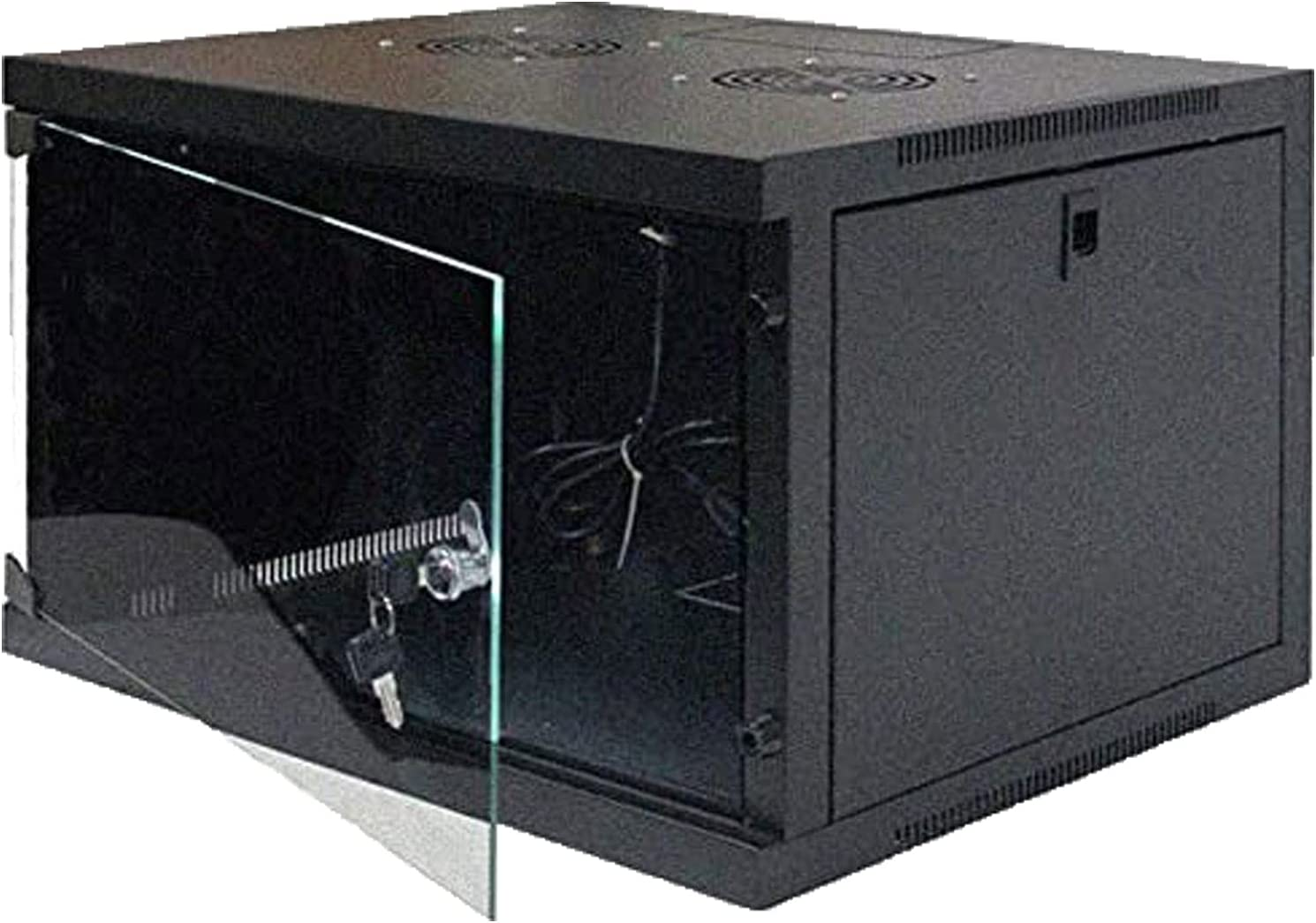 FerruNet6U Wall Mount Double Section Hinged Swing Out Server Network Rack Cabinet Lock,ApplytoSmall Office, Home Office.
