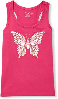 The Children's Place Women's Big Girls' Racerback Novelty Top