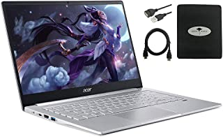 Acer Swift 3 14インチ FHD 薄型&軽量ノートパソコン AMD Ryzen 5 4500U (最大4.0GHz) 8GB RAM 512GB PCIe SSD バックライト付き KB 指紋リーダー ゴーストマンタアクセサリー付き