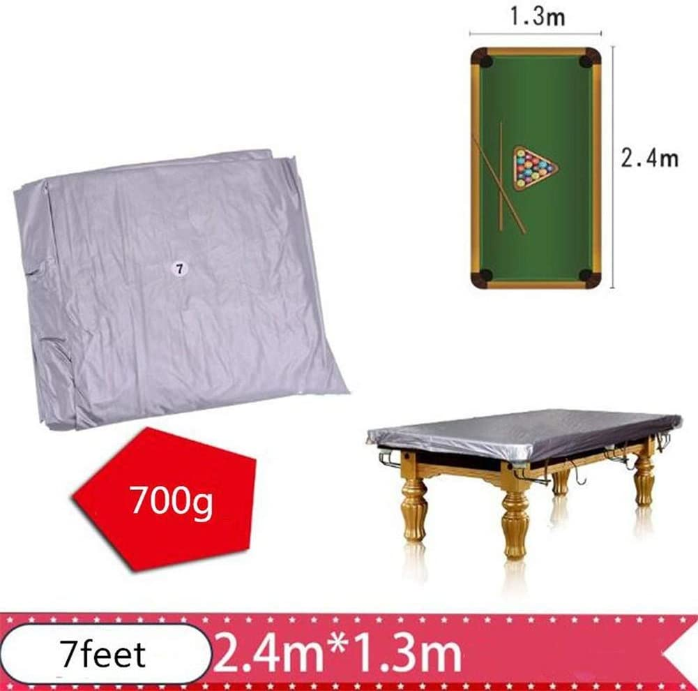 TXYFYP Table de Billard Housse 1 7ft 8ft 9ft 10ft 12ft PVC Billard Snooker Table Poussi/ère Anse Imperm/éable /Étanches /à la Poussi/ère Piscine Billard Table Housse Rip R/ésistant Free Size