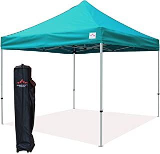 UNIQUECANOPY 10'x10' Ez Pop Up Canopy Tent Commercial Instant Shelter, with Heavy Duty Roller Bag, 10x10 FT Lake Blue