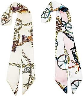 Skinny Neckerchief Scarf for Handbag Handle Silk Scarf Bracelet for Women by Bellagione