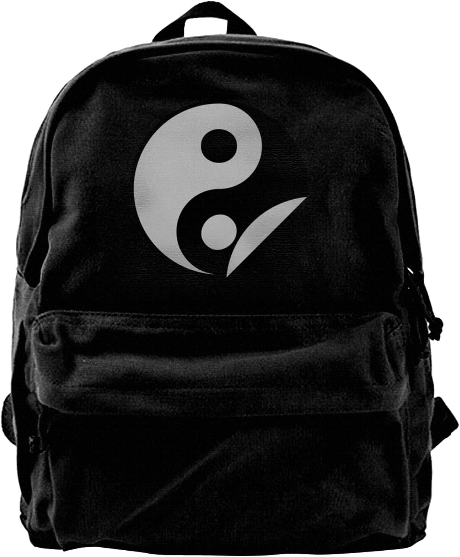 Yin Yang 35% OFF Canvas Backpacks Laptop Max 81% OFF Sh Bags Schoolbag High-Capacity