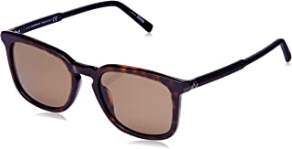 Montblanc Men's MB586S Square Sunglasses Brown 52 mm