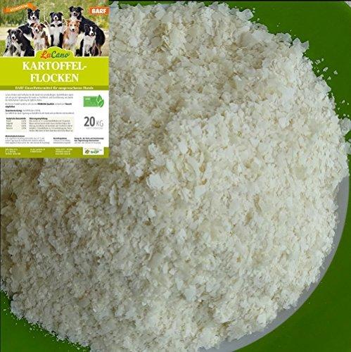 LuCano 20 kg Kartoffelflocken für Hunde | Barf Ergänzungsfuttermittel - Ergänzungsfutter