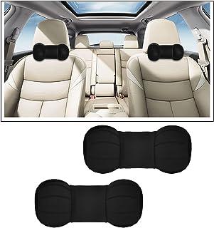 Vheelocityin Dumb Bell Round Car Neck Cushion Pillow for Volkswagen Polo, Black