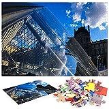 Puzzle a partir de 1000 piezas Louvre Museo París, Seis países europeos, familias de materiales reciclables y puzzle de alta resolución, juego familiar, regalo y regalo para amantes o amigos.