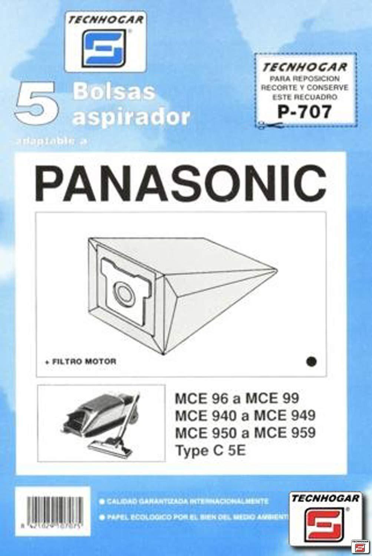 Tecnhogar - Caja 5 Bol. Asp.Panasonic Mce-96-97: Amazon.es ...