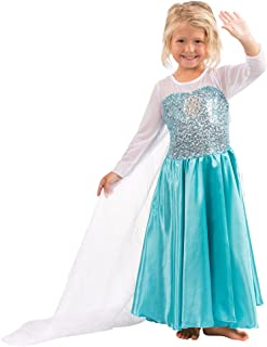 Butterfly Craze Children's Snow Princess Costume Dress – For Ice Queen Dress Up, Costume Parties, Pretend Play, Any Time I...