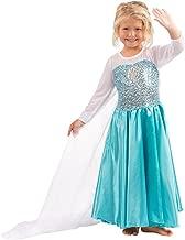 Butterfly Craze Girls Snow Queen Costume Snow Princess Dress - 4 Years
