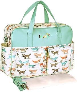 bismarckbeer Multi-pockets Baby Diaper Bag Mummy Bag Nappy Changing Tote Shoulder Organiser Bag