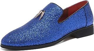 Men's Luxury Sparkling Glitter Slip On Loafers Nightclub Party Dress Shoes