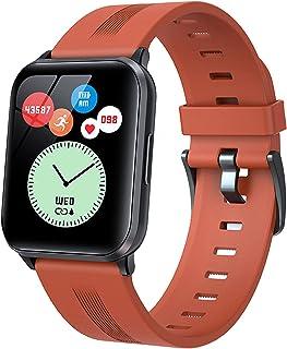 Smart Watch för Android-telefoner Text och samtal Bluetooth kroppstemperaturmonitor för kvinnor män Fitnessklocka pulsmäta...